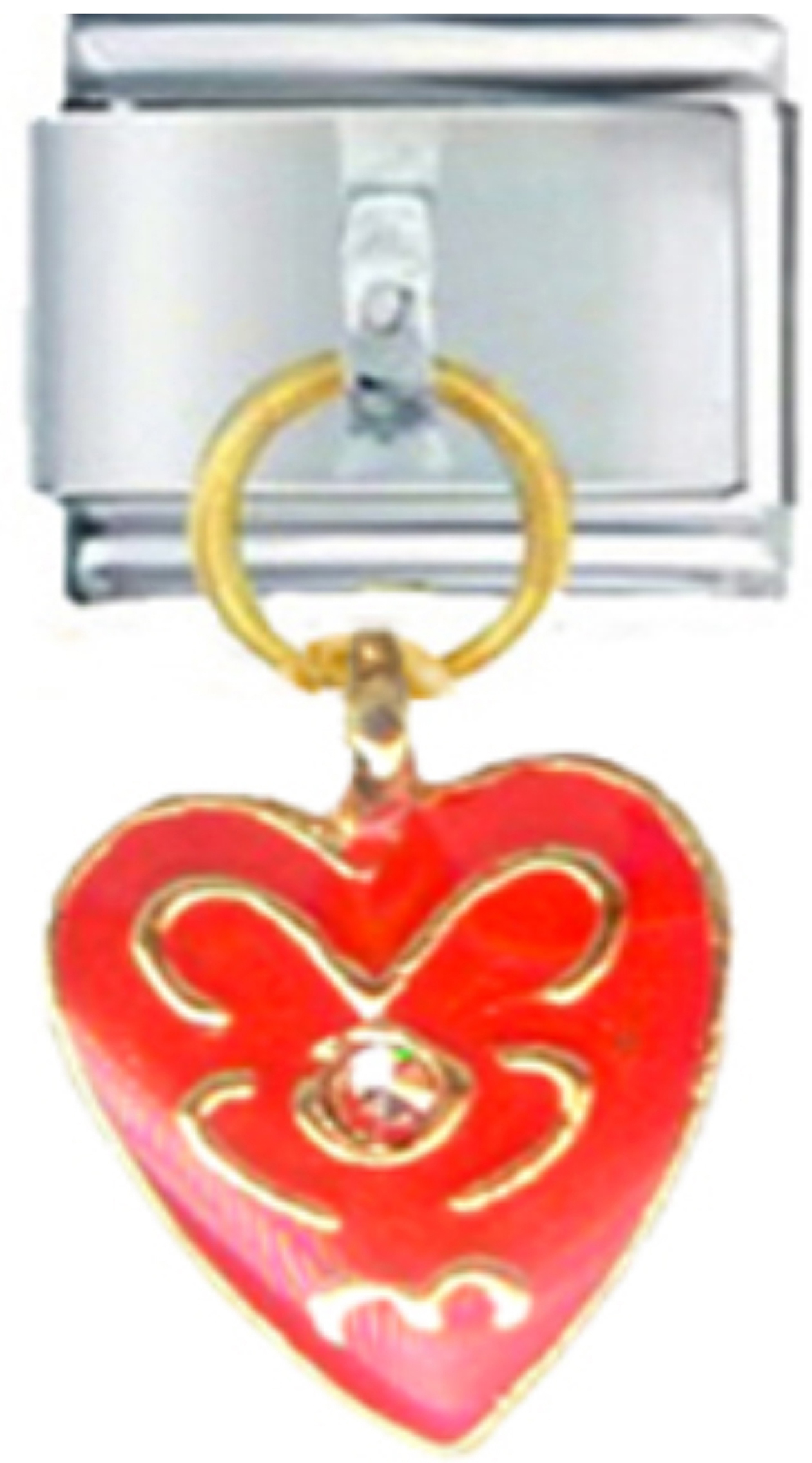 LV102-Love-Heart-Red-Dangle