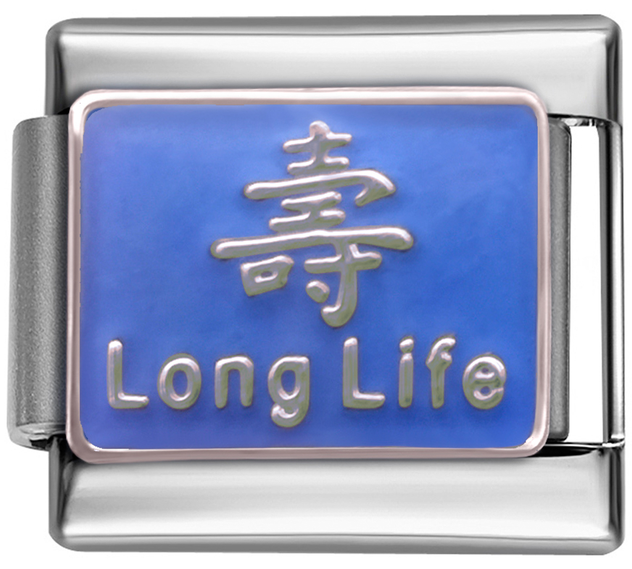 Details about LONG LIFE LUCKY Enamel Italian 9mm Charm NC179 Fits  Nomination Classic